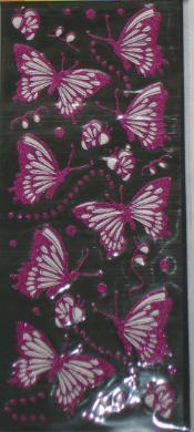 Samolepiace motýliky - rôžne farby - Obrázok č. 1