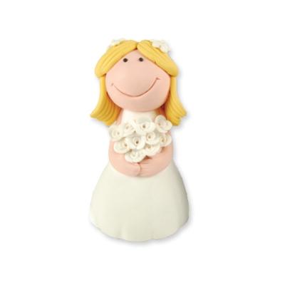 """Dekorácia na tortu """"Nevesta"""" blondýnka - Obrázok č. 1"""