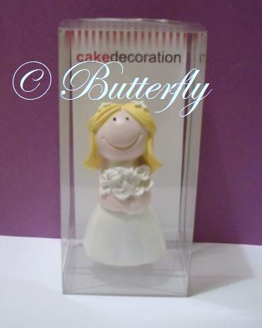 """Dekorácia na tortu """"Nevesta"""" blondýnka - Obrázok č. 2"""