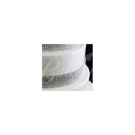 Dekoračný diamantový pás 5cm / 2m - Obrázok č. 3