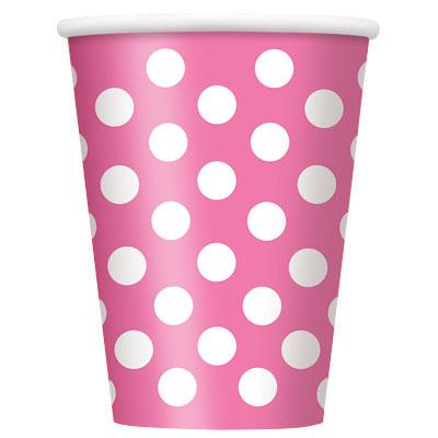Párty poháriky / ružové DOT - Obrázok č. 1