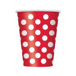 Párty poháriky / červené DOT - Obrázok č. 1