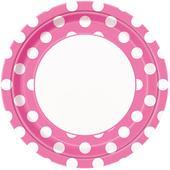 Bodkované tanieriky / ružové DOT,