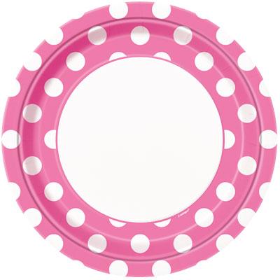 Bodkované tanieriky / ružové DOT - Obrázok č. 1