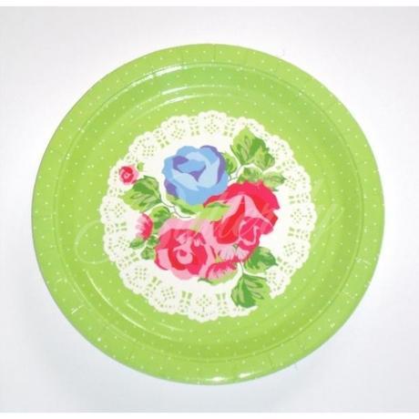 Papierové Vintage tanieriky 4ks - Obrázok č. 1