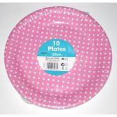 Papierové tanieriky - bodkované / ružové,