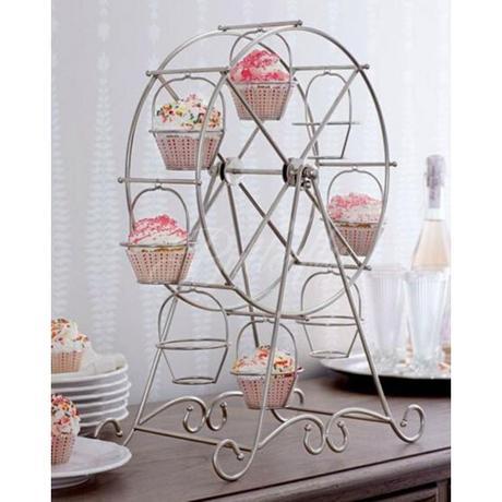 Otočný stojan na cupcake koláčiky / mufiny - Obrázok č. 1