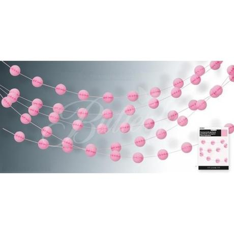 "Girlanda ""Honeycomb"" - ružová - Obrázok č. 1"