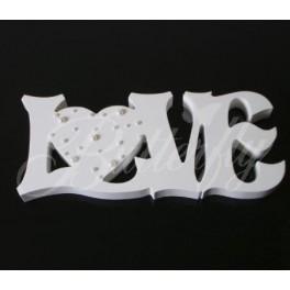Dekorácia Love so srdcom a perličkami - Obrázok č. 1