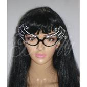 Party okuliare - kryštálové,