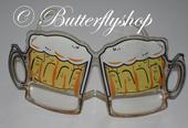 Zábavné okuliare v tvare pivových pohárov,