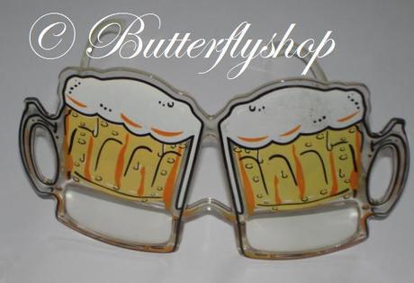 Zábavné okuliare v tvare pivových pohárov - Obrázok č. 1