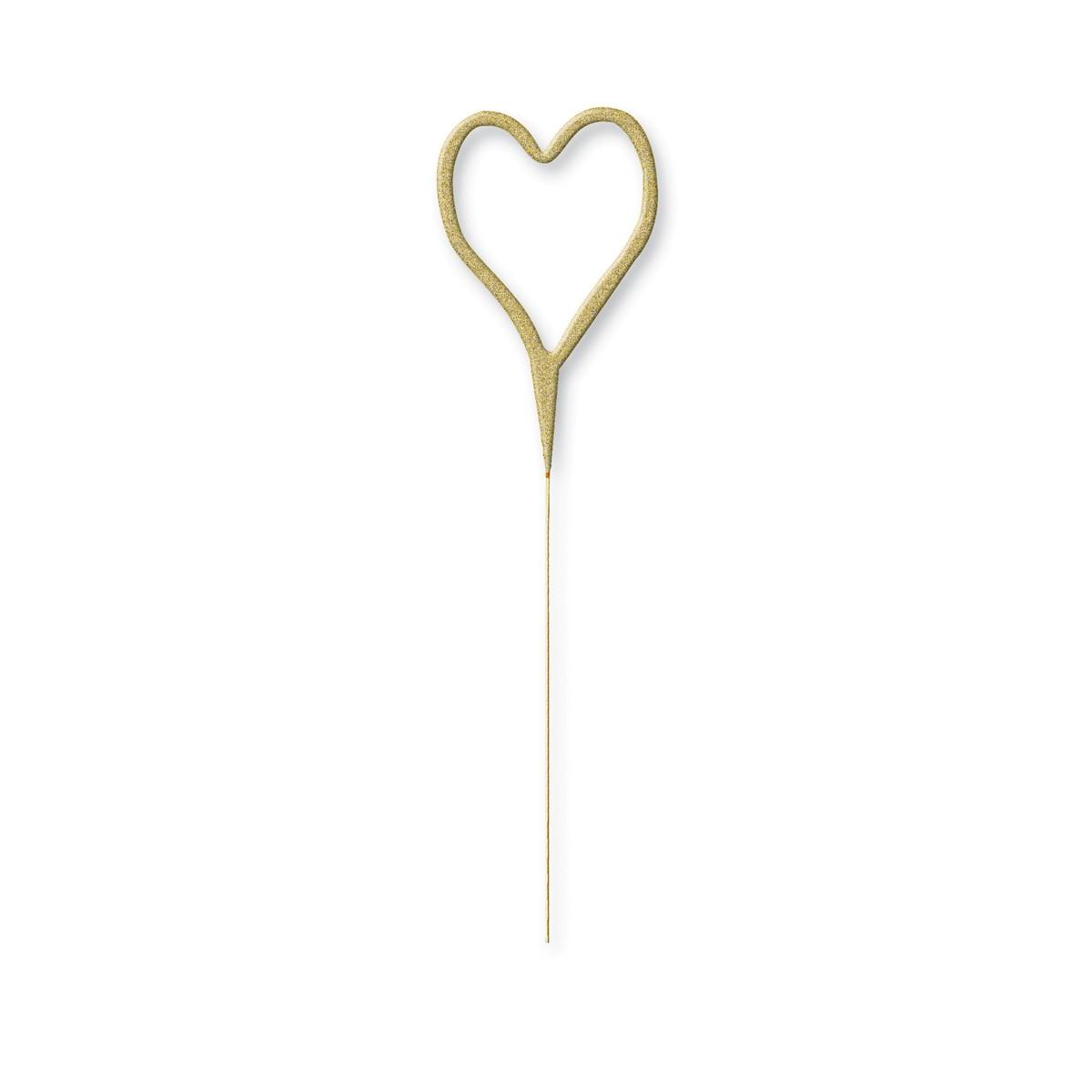 Prskavka v tvare srdca / zlatá - Obrázok č. 1