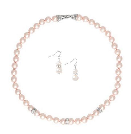 Náhrdelník + náušnice / ružové perličky - Obrázok č. 1
