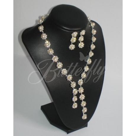2-dielny set - perlový náhrdelník, náušnice - Obrázok č. 1