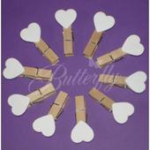 Mini-kolíky s bielym srdiečkom,