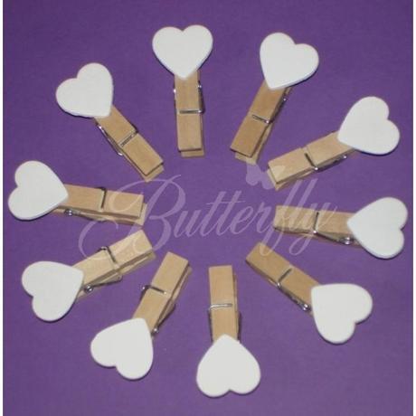 Mini-kolíky s bielym srdiečkom - Obrázok č. 1