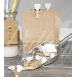 Mini-kolíky s bielym srdiečkom - Obrázok č. 2