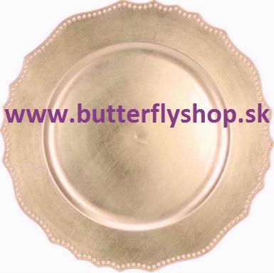 """Klubové taniere """"Vintage"""" - zlaté - Obrázok č. 1"""
