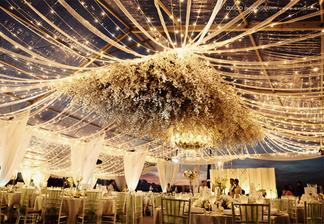 Upside down wedding decorations!