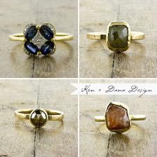 alternative rustic gemstone rings
