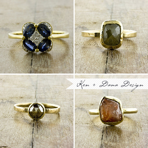 A ring by any other name... - alternative rustic gemstone rings
