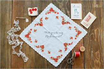 Vintage handkerchiefs - save the dates or other invites or favours