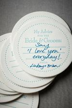wedding tips coasters!