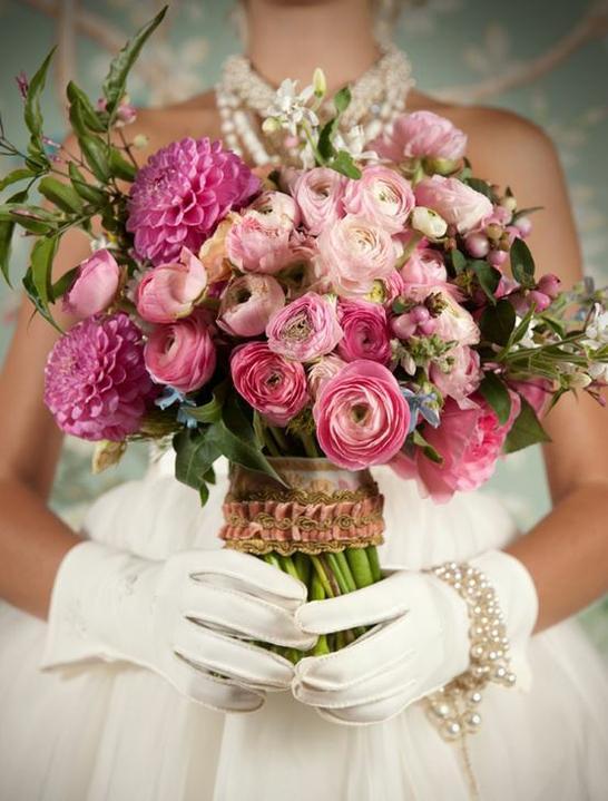 Wedding flowers inspirations - Wedding bouquet pink