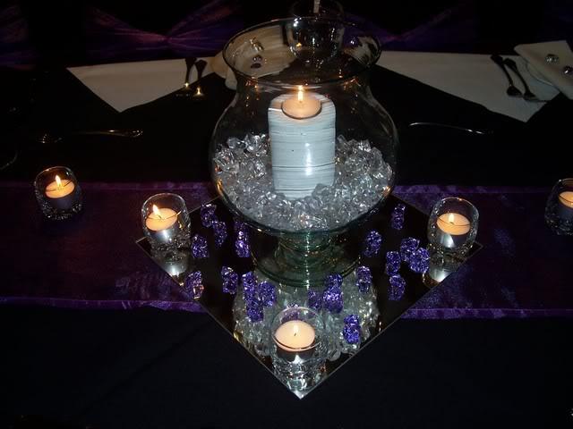 Mirror Plate Wedding Centrepieces - Obrázok č. 5
