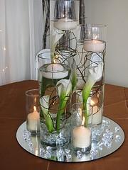 Mirror Plate Wedding Centrepieces - Obrázok č. 6