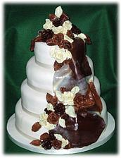 kombinacia bielej a tmavej cokolady-mnam:)