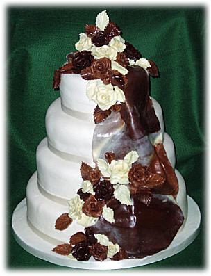Jedneho krasneho dna... - kombinacia bielej a tmavej cokolady-mnam:)