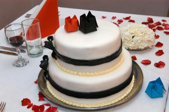 náš dort a detail výzdoby