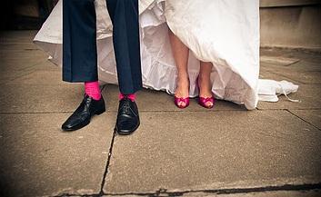 Nakonec přítel proti růžovým ponožkám ani neprotestoval.