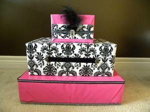 Krabice na přání jako dort.