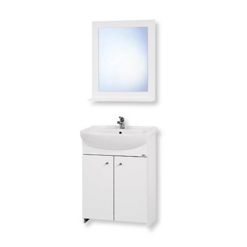 Tato spodní skříňka opět bez zrcadla objednaná do dolní koupelny