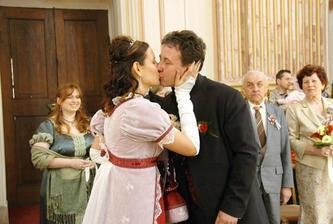 ...a první manželská pusa... pusinkovali jsme se natřikrát :o)