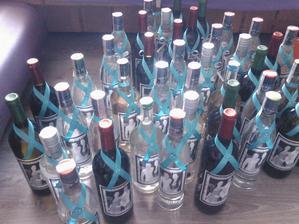 fľaše ozdobene