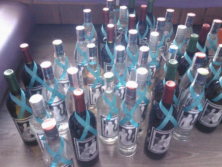 Začíname J+M - fľaše ozdobene