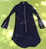 Modré sako s knoflíčky, 36