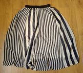 Pruhovaná modrá sukně, S