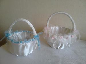svatební košíčky pro děti vyrobené od maminky