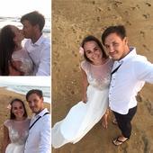 Vzdušné svadobné šaty, 36