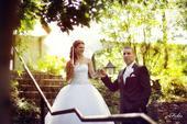 Krajkové svadobné šaty  tylové 34-36-38, 34