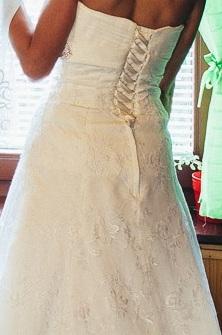 Čipkované svadobné šaty + darček (závoj,bolerko) - Obrázok č. 3