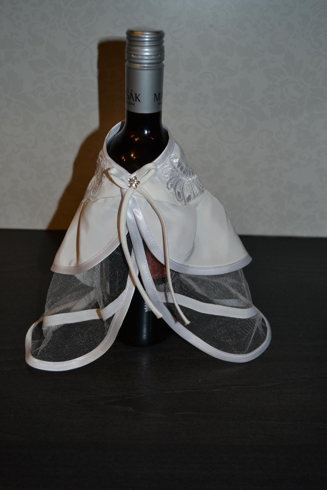 Ozdoba na fľašu (nevesta) - Obrázok č. 1