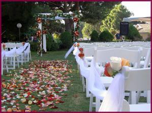 pre inšpiráciu..kto má svatbu vonku :))