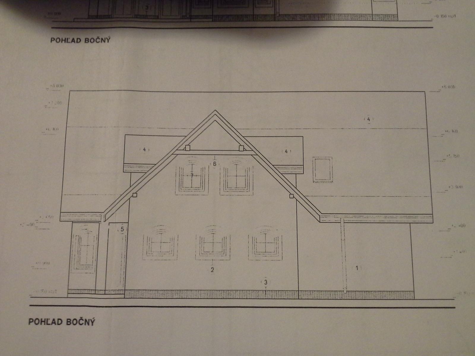 Nas zamocek - Klassik 148 prodom - male garazove okna budu nahradene vacsimi a bude to malinko sirsia izba..