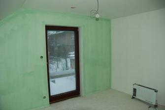 ložnice - malba ještě nestihla uschnout